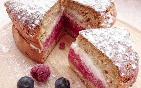 gesunder Himbeer-Pudding-Kuchen