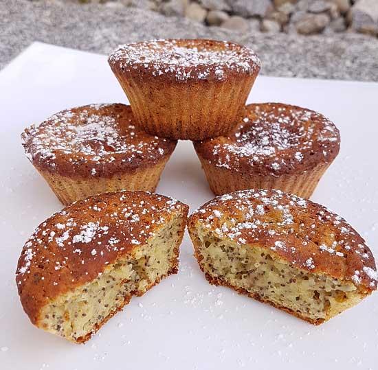 schnelle und einfache mohn muffins